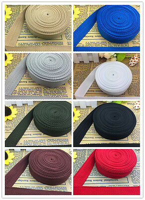 New 5/10/50Yards Length 5/8 Inch Width(15mm) Nylon Webbing Strapping Pick Color
