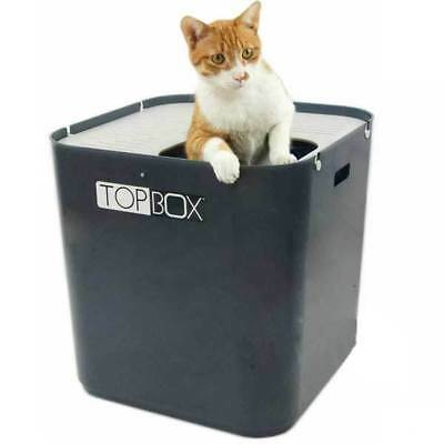 SmartCat The Ultimate Cat Litter Top Box (with scoop) - Gray