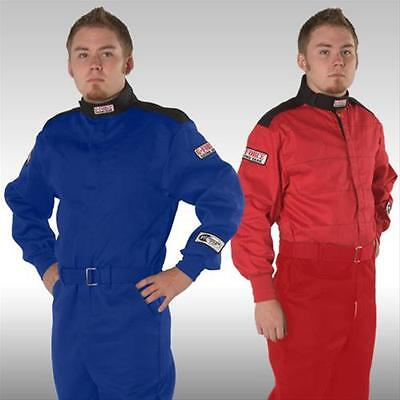 G-Force GF-145 Single-Layer 1-Piece Race Suit - Red or Blue -  SFI 3.2A/1
