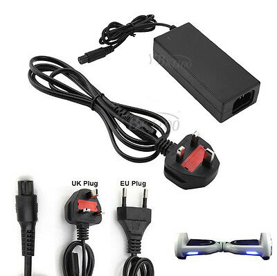 42V 2A Power Cord Adapter Battery Charger For Smart Balance Scooter Wheel UK/EU