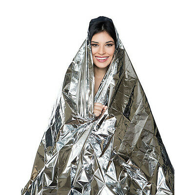 Easy Waterproof Survival Emergency Foil Blanket Rescue Thermal First Aid New US