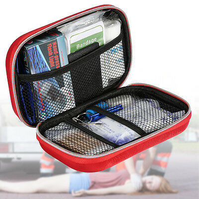 Red Outdoor Hiking Survival Travel Emergency Case First Aid Kit Rescue Bag SP