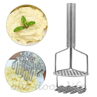 2 In 1 Stainless Steel Metal Potato Masher Heavy Duty Stainless Steel Rice