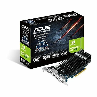 Asus nVidia GeForce GT 730 DDR3 Graphics Card 2GB HDMI DVI VGA D-SUB Low Profile