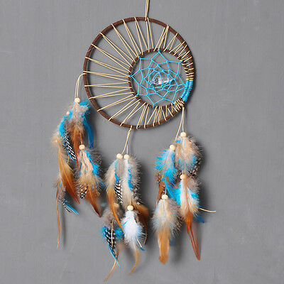 Wall Hanging Handmade Dreamcatcher Hanging Flat Wind Chime for Home Garden