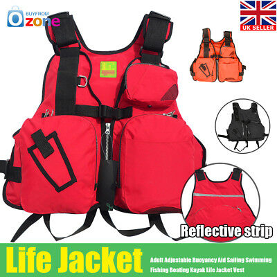 Adult Adjustable Buoyancy Aid Sailing Kayak Canoeing Fishing Life Jacket