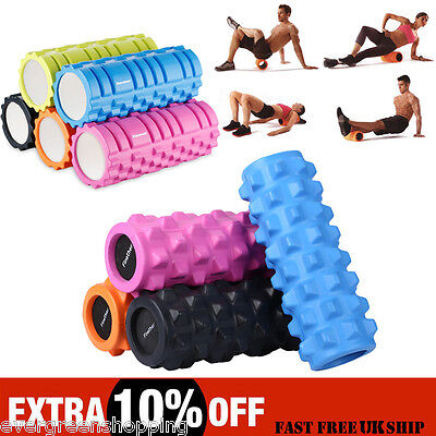 Yoga Foam Roller Trigger Point EVA Grid Pilates Physio Massage Fitness Exercise