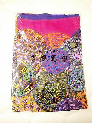 Beautiful brand new pink and blue color silk scarf