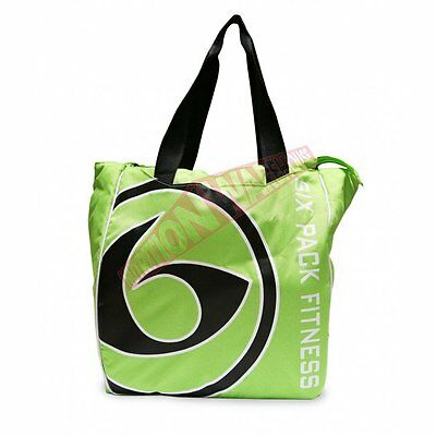 Six Pack Bags CAMILLE SPORTY TOTE BAG Size 4-Meal, Interior Lining, Green/Black