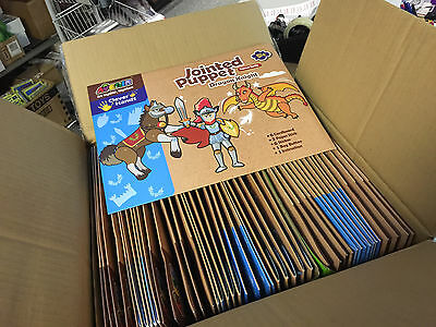 45 x Wholesale Joblot Jointed Puppets Dragon Knight Craft Activity Kids Toys