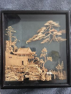 Vintage chinese cork art