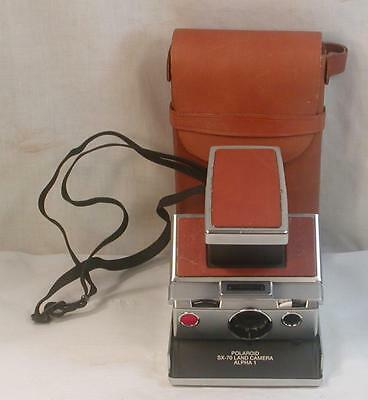 Original Polaroid Sx-70 Land Camera With Leather Case Film Tested Working