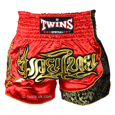 Twins Special Muay Thai Boxing Black-Gold Shorts - TWS-151