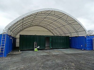 40ft Shipping Container Valet Bay Canopy Workshop Shelter Cover Workspace Store