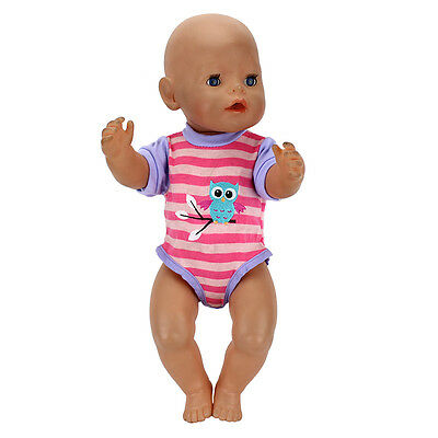 Meired grid short Clothes Wearfor 43cm Baby Born zapf (only sell clothes)