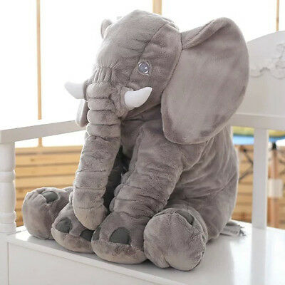 Soft Plush Stuff Toys Baby Children Gift Long Nose Elephant Doll Lumbar Pillow ^