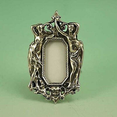 Beautiful Tiny Art Nouveau Ladies Solid Sterling Silver 925 Picture Frame 12g