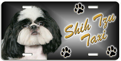 Shih Tzu 7 Taxi Line License Plate (( LOW CLEARANCE PRICE ))
