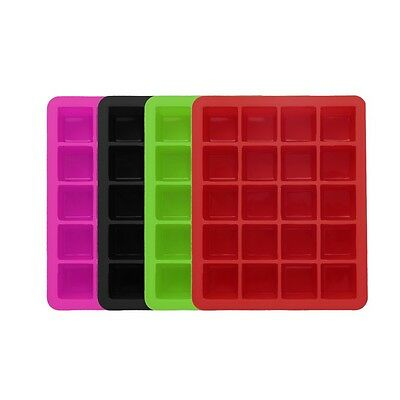 20-Cavity Large Cube Ice Pudding Jelly Maker Mold Mould Tray Silicone Tool k^