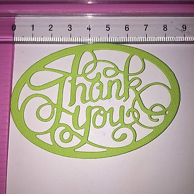 Cardstock Die Cuts! 6 x Unbranded 'Thank You'  - Card Toppers Mixed Colours