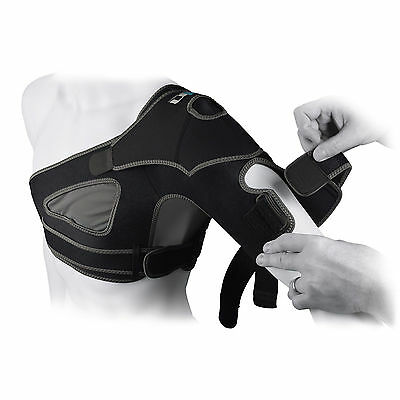 UP Advanced Custom Fit Compression Shoulder Rotator Cuff Support Strapped Brace