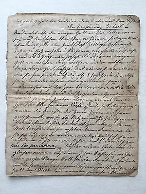 18th/19th Century Antique HANDWRITTEN Manuscript GERMAN Early PENNSYLVANIA DUTCH