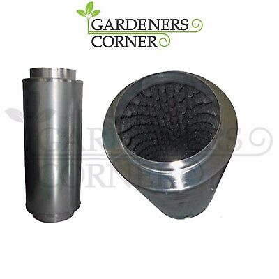"Hydroponics Indoor grow Inline Duct Extractor Fan Silencer Low Noise 6"" 150mm"