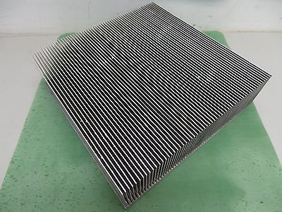 "Aluminum Heatsink 12 1/4"" x 12"" x 3 5/8"" Heat Sink Nice Condition"