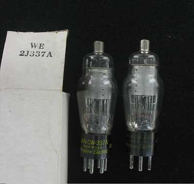 2 X 337A Western Electric Tube Electronique