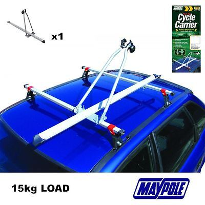 New MAYPOLE RB1050 CAR ROOF MOUNTED UPRIGHT CYCLE BIKE CARRIER 15KG
