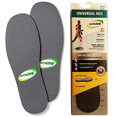 Noene 2mm Shock Absorbing Professional Athlete Runners Joint Impact Insoles