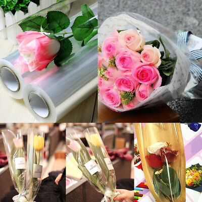 50cm*20m Cellophane Rolls Florist Craft Film Wrap Gift Hamper Thick 0.022mm