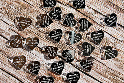 Personalised love hearts wedding favours table centre piece decorations mr&mrs