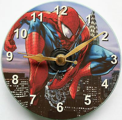 Spiderman cd clock can be personalised