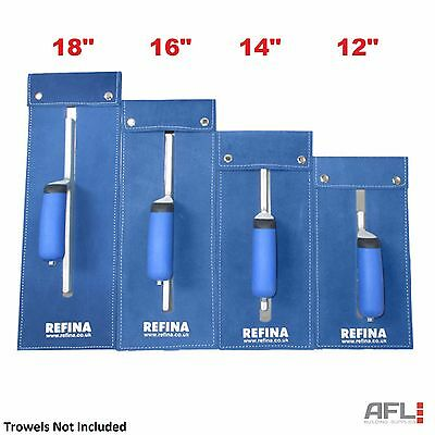 Refina Leather Superflex Trowel Plaziflex Blade Case Wallet Holder Blue