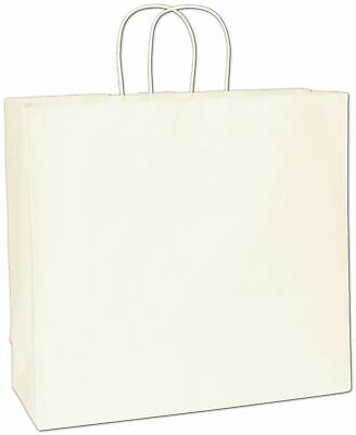 White Paper Bags Shoppers 16 x 6 x 15 1/2""
