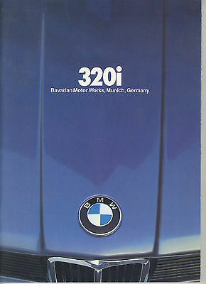 1981 BMW 320i Sales Brochure
