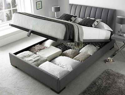 Kaydian Versace Ottoman Upholstered Storage Automatic Lift Up Bed Double King