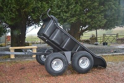 Quad ATV Tipping Trailer 4wheeled 1500lb By Rock Machinery
