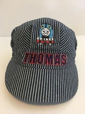 Thomas the Tank Engine Train Engineer Kids Striped Conductor Hat Pre-Owned