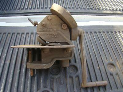 Maplewood Machinery F1 Sheet Metal Bead Roller Crimper