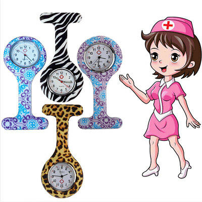 Hanging Silicone Fob Nurse Watch Brooch Clip-on Pendant Pockect Watches