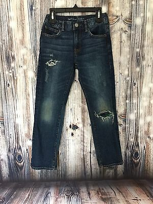 Gap Kids Boys Jeans Regular Straight Slightly Distressed Size Regular 8