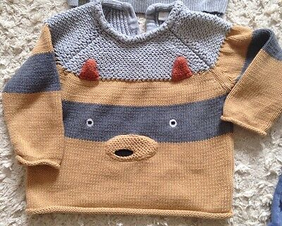Baby Boys Next Fox Jumper Sweater Age 9-12 Months