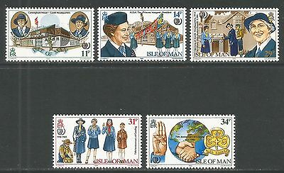 Isle of Man 1985 Girl Guides 75th Anniversary--Attractive Topical (276-80) MNH