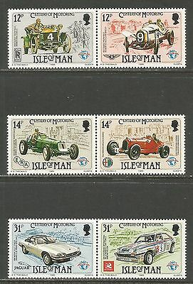 Isle of Man 1985 Auto Racing--Attractive Sports Topical (284-86) MNH