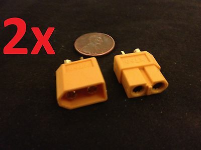 2 Pairs XT60 Male & Female Bullet Connectors Plugs For RC Hobby Lipo Battery c1