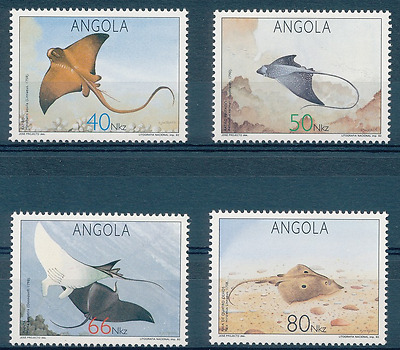 Angola - 1992 - Fishes -  Rays
