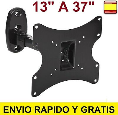 "Soporte de pared para tv lcd led plasma monitor Giratorio 13"" A 37"" Inclinable"