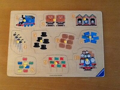Thomas The Tank 1-10 Counting Wooden Peg Puzzle by Ravensburger